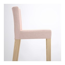 Henriksdal Bar Stool With Backrest Birch Gunnared Light