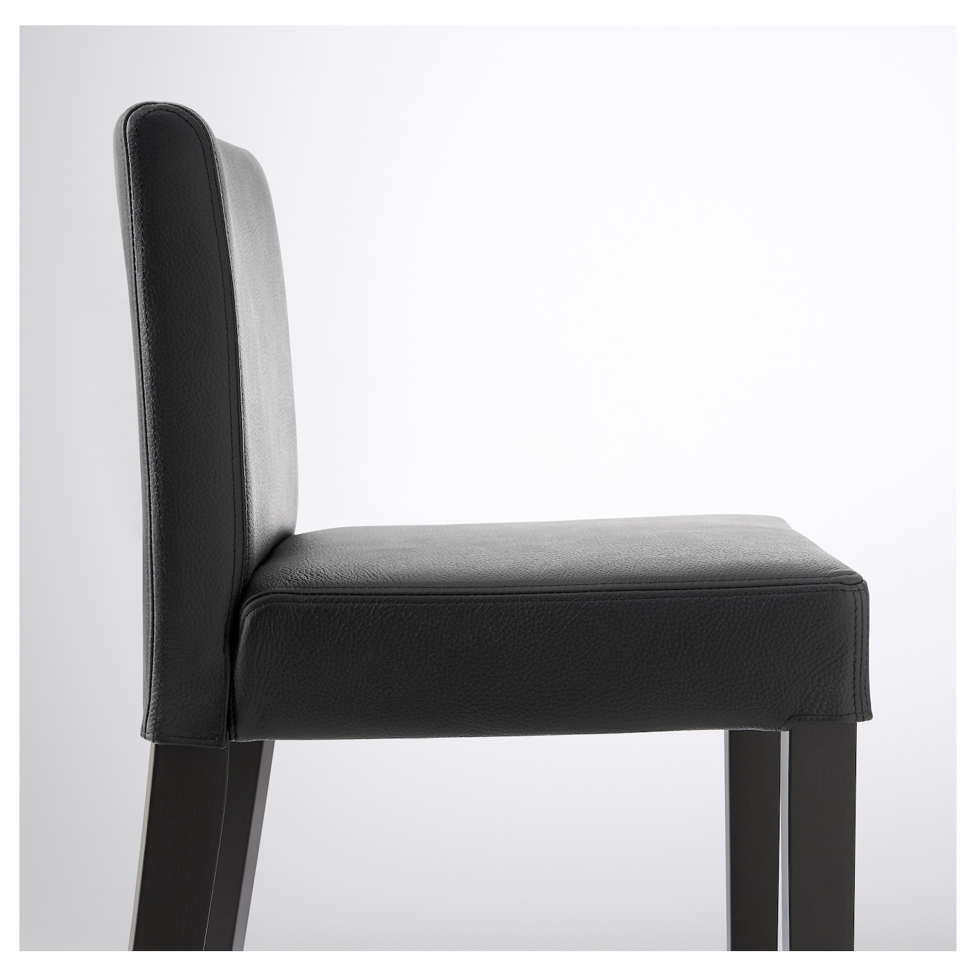 IKEA HENRIKSDAL bar stool with backrest The padded seat means you sit comfortably.