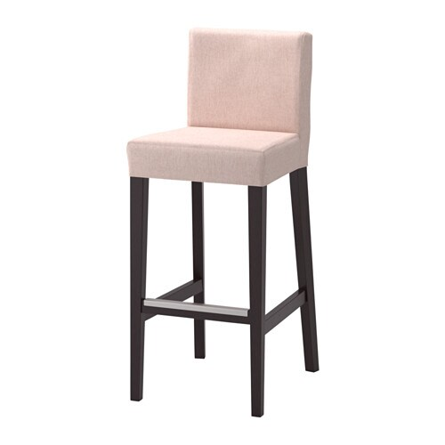 HENRIKSDAL Bar stool with backrest Brown blackgunnared  : henriksdal bar stool with backrest brown black gunnared pale pink0502776pe632233s4 from www.ikea.com size 500 x 500 jpeg 17kB