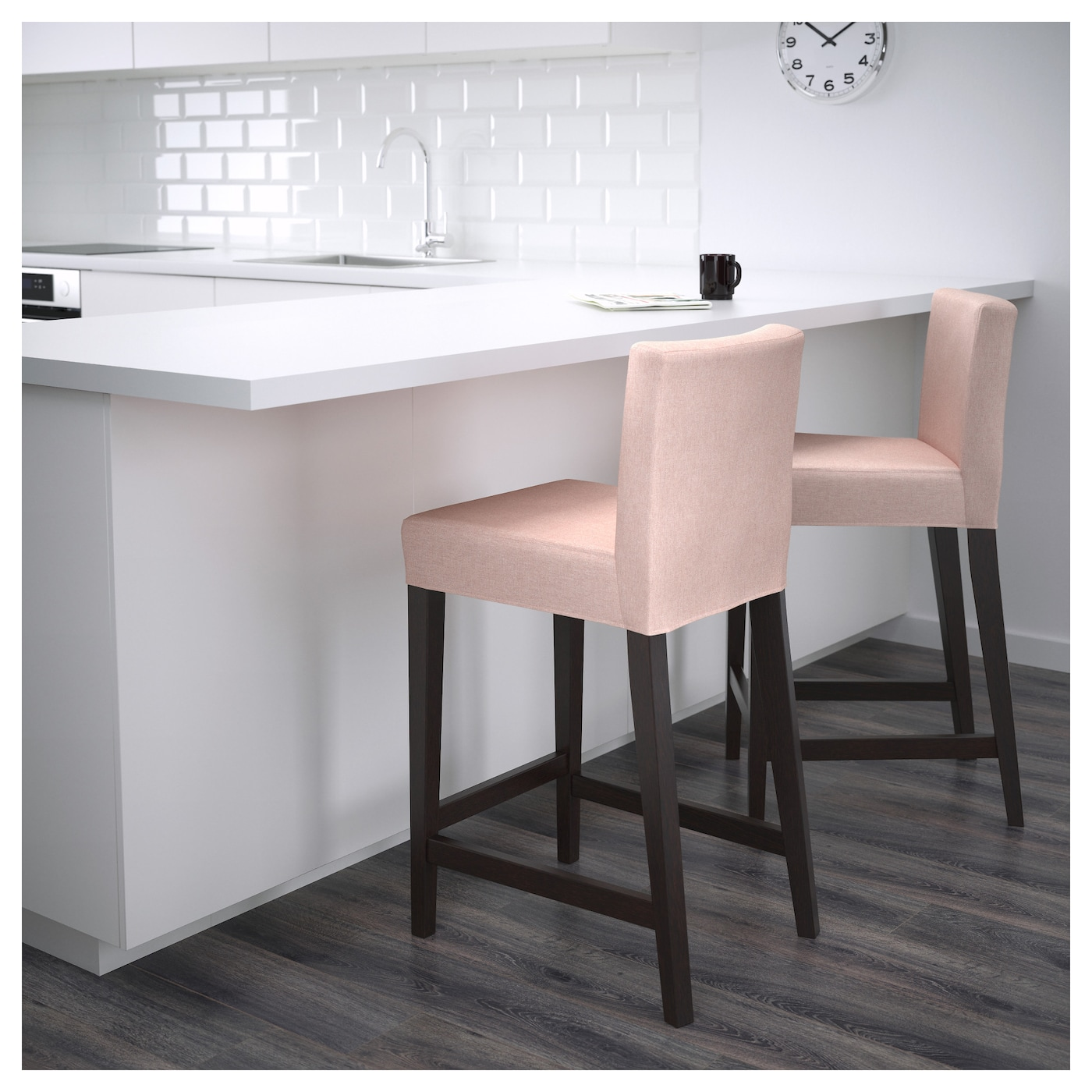 HENRIKSDAL Bar stool with backrest Brown blackgunnared  : henriksdal bar stool with backrest brown black gunnared pale pink0503589pe632789s5 from www.ikea.com size 2000 x 2000 jpeg 574kB