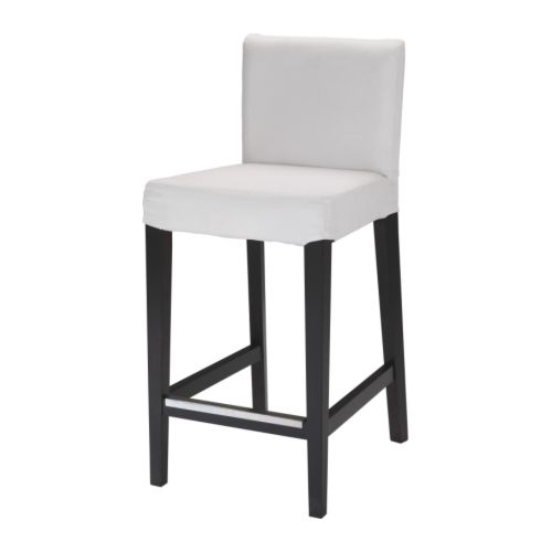 IKEA HENRIKSDAL bar stool with backrest frame The padded seat means you sit comfortably.