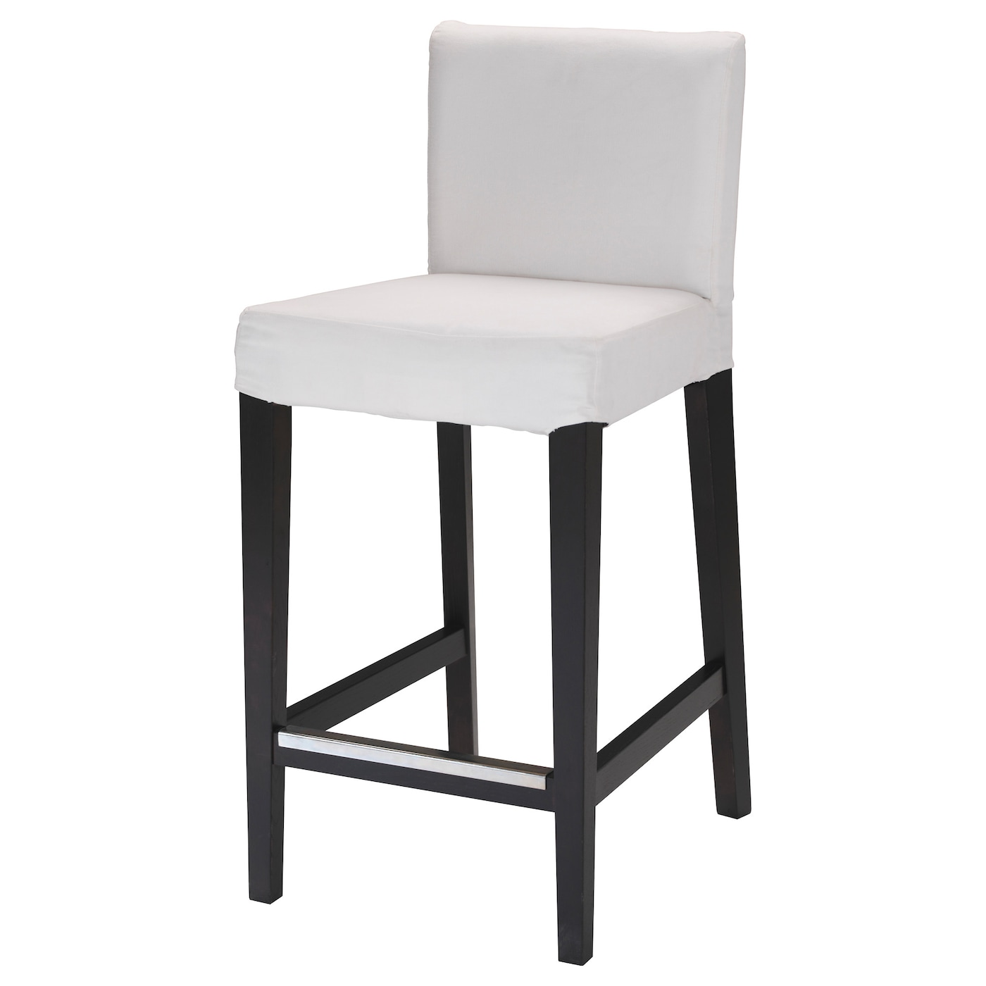good ikea henriksdal bar stool with backrest frame the padded seat means you sit comfortably. Black Bedroom Furniture Sets. Home Design Ideas