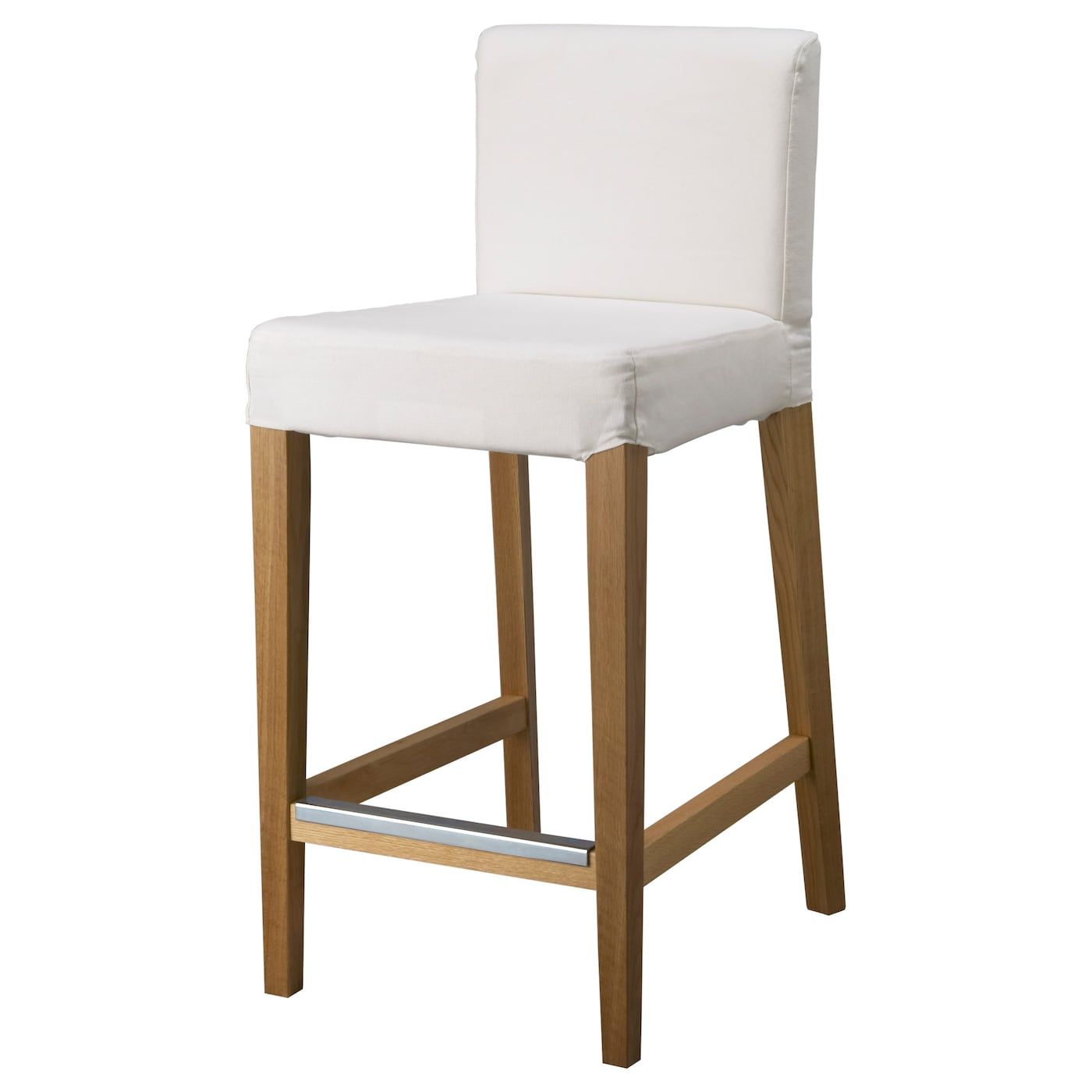 Henriksdal bar stool with backrest frame oak 74 cm ikea for Chaise jysk