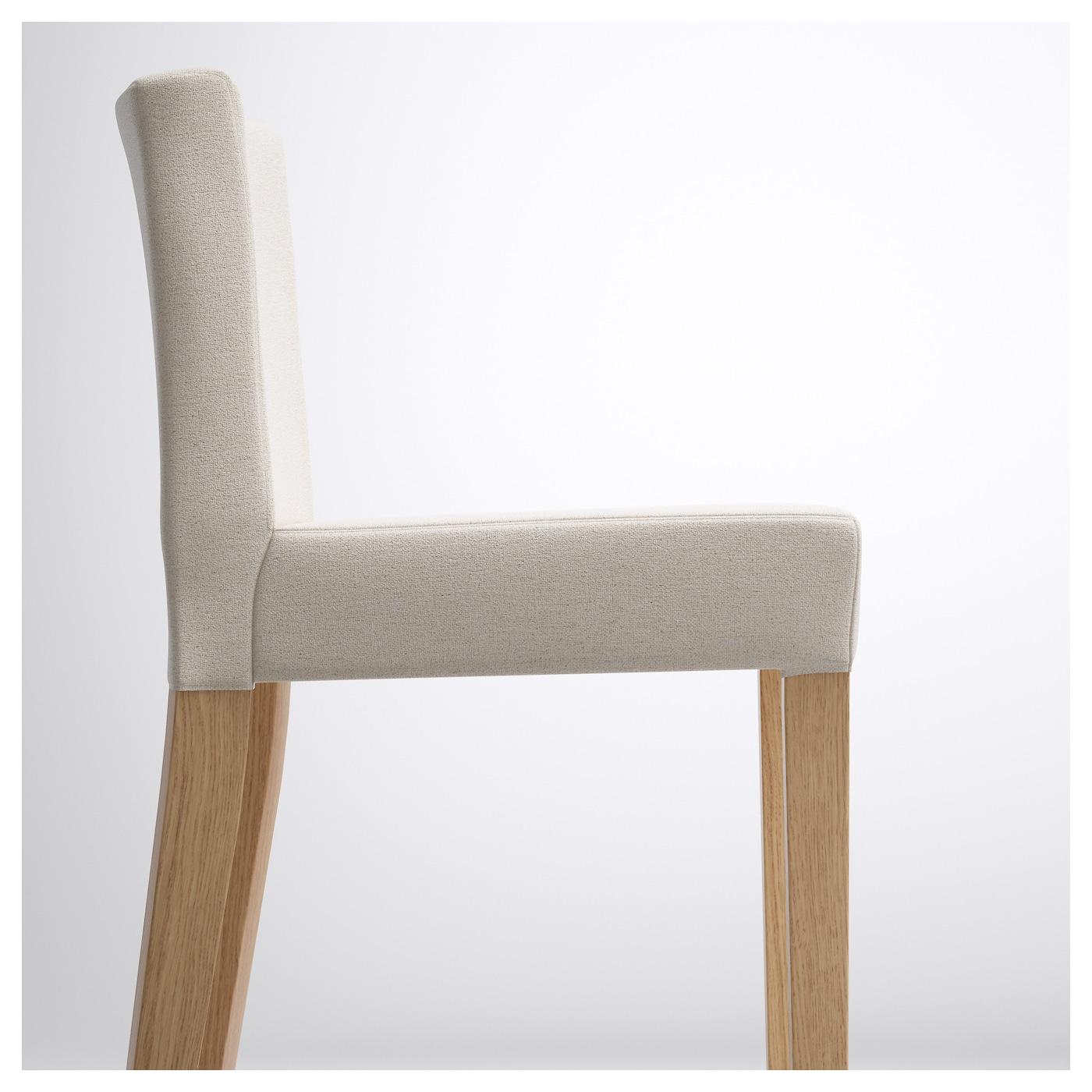 henriksdal bar stool with backrest oak linneryd natural 63 cm ikea. Black Bedroom Furniture Sets. Home Design Ideas