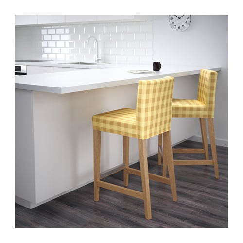 IKEA HENRIKSDAL bar stool with backrest Machine washable cover; easy to  keep clean. - - Henriksdal Bar Stool Cover Kenshair Design