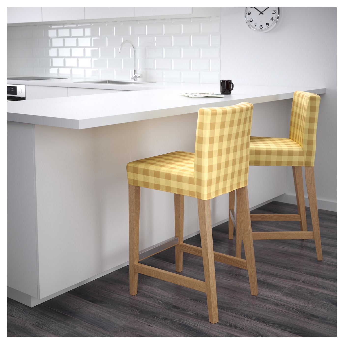 #987A34 HENRIKSDAL Bar Stool With Backrest Oak/skaftarp Yellow 63  with 2000x2000 px of Most Effective Ikea Wooden Stools 20002000 wallpaper @ avoidforclosure.info