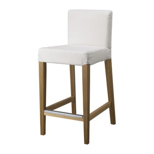 HENRIKSDAL Bar stool with backrest IKEA The padded seat means you sit comfortably.  With footrest for relaxed sitting posture.