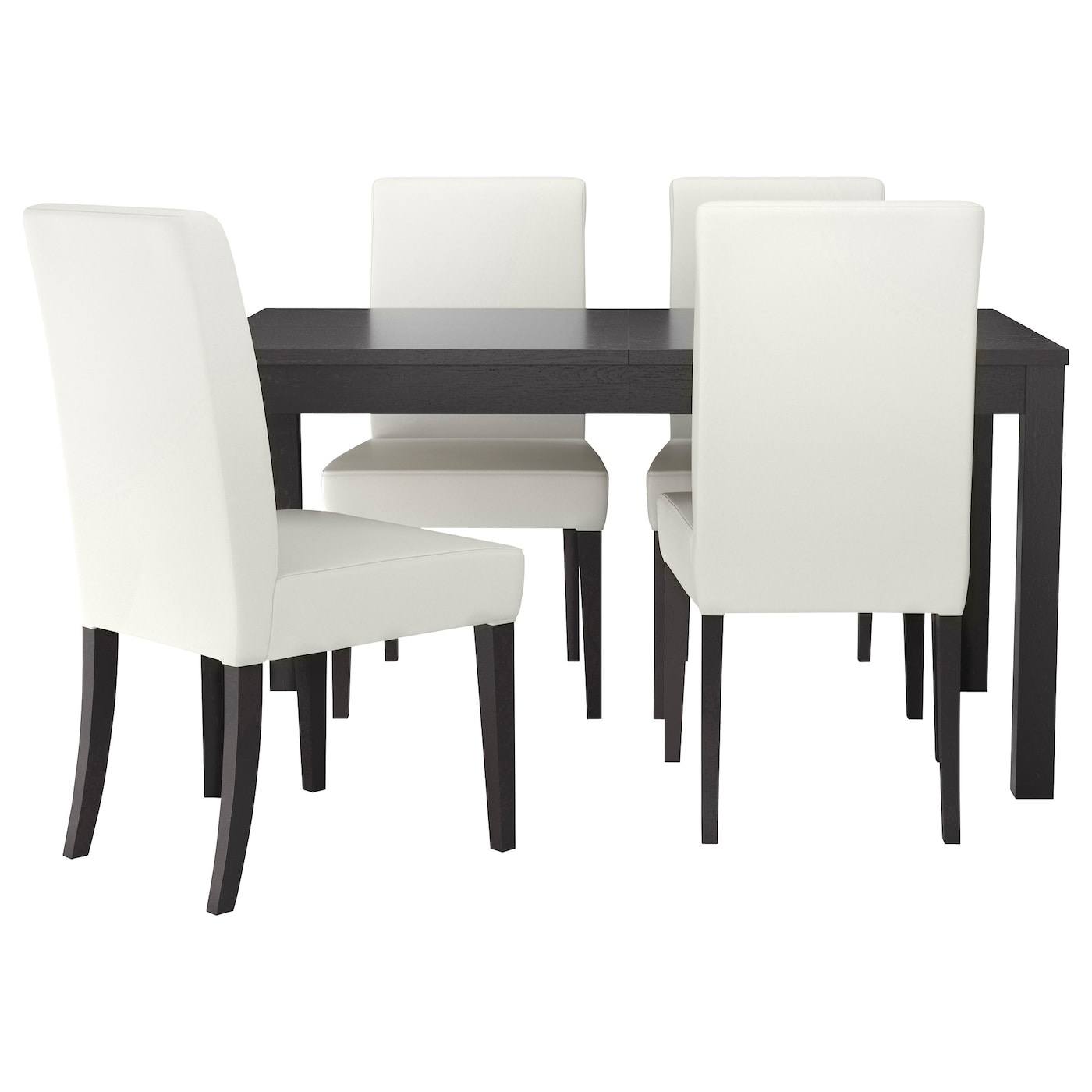 HENRIKSDALBJURSTA Table and 4 chairs Brown blackgrsbo white 140