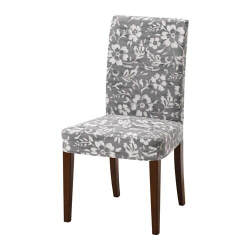 HENRIKSDAL Chair Brown Hovsten Grey White IKEA