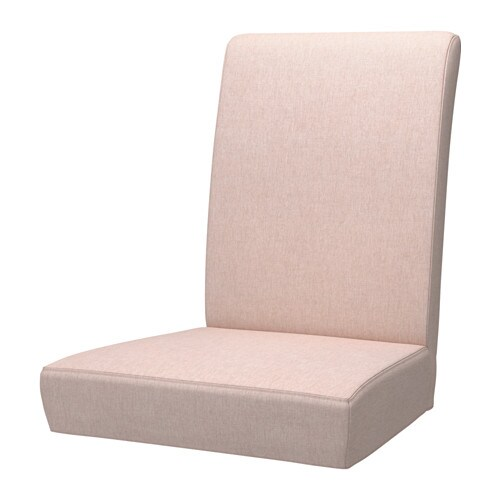 Henriksdal chair cover gunnared pale pink ikea for Housse pour chaise
