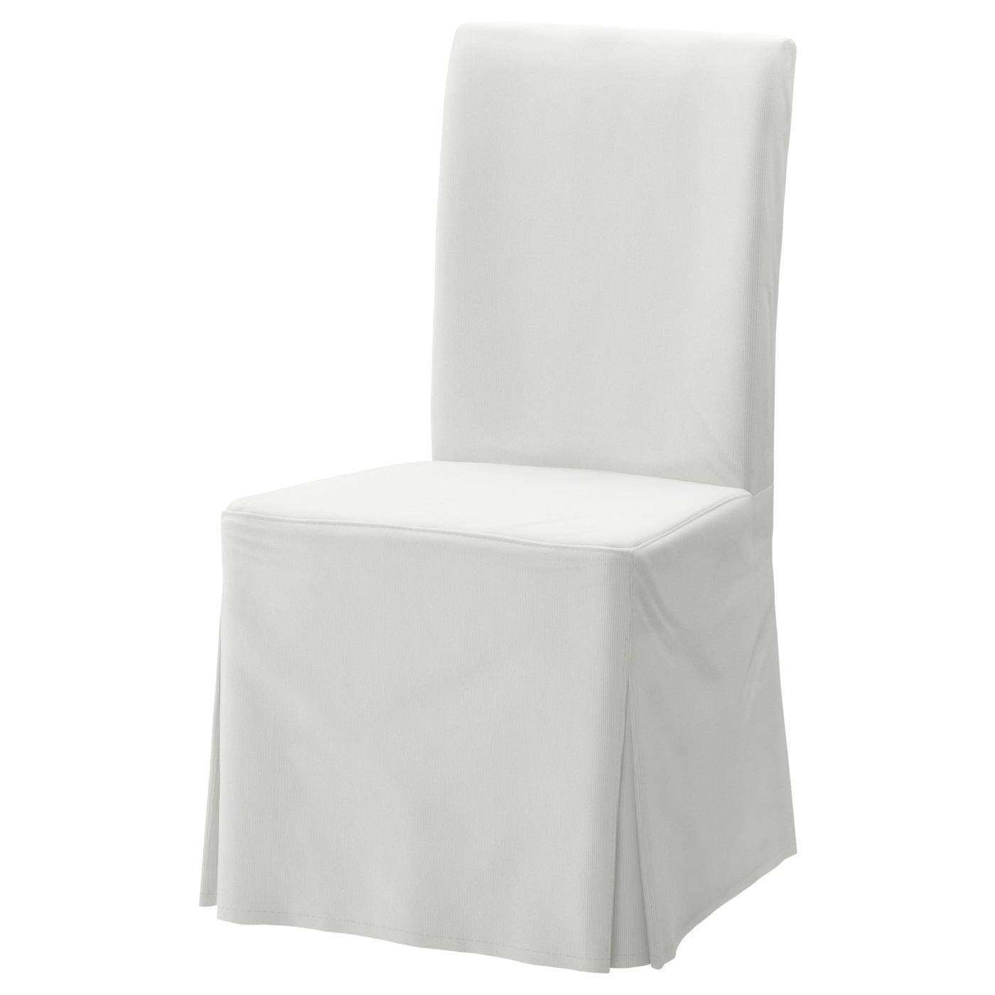 Henriksdal Blekinge White Chair Cover Long Ikea