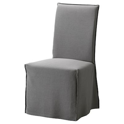 HENRIKSDAL Chair cover, long, Risane grey