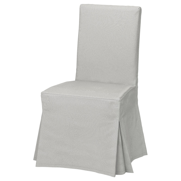 Peachy Chair Cover Long Henriksdal Ramna Light Grey Andrewgaddart Wooden Chair Designs For Living Room Andrewgaddartcom