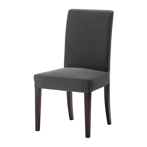 Henriksdal chair dansbo dark grey ikea - Housse de chaise salle a manger ...