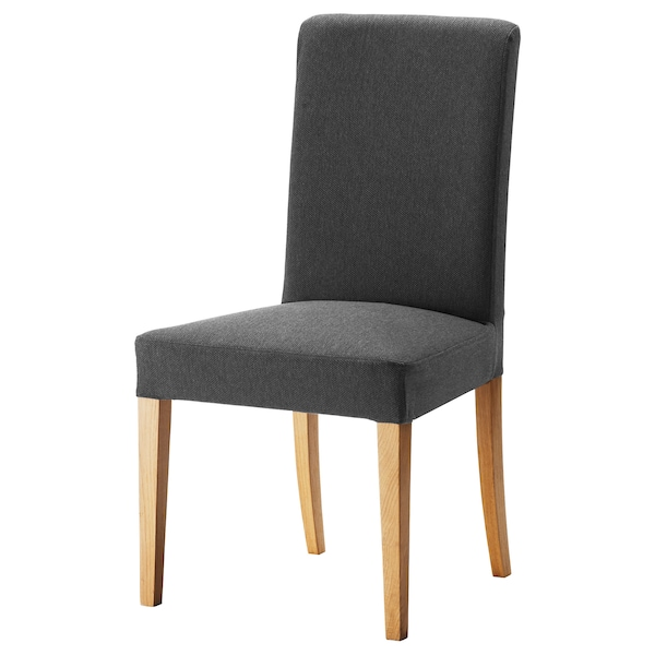 Magnificent Chair Henriksdal Oak Dansbo Dark Grey Creativecarmelina Interior Chair Design Creativecarmelinacom
