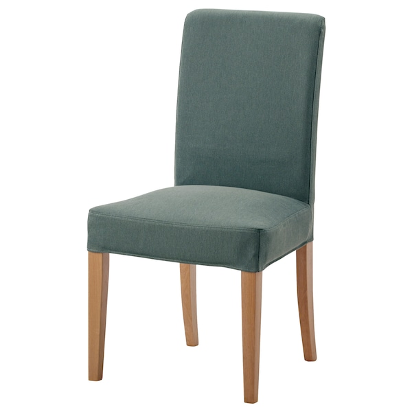 HENRIKSDAL Chair Oak Finnsta Turquoise IKEA