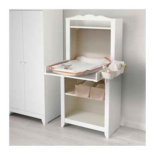 Hensvik changing table cabinet white ikea - Commode table a langer ...