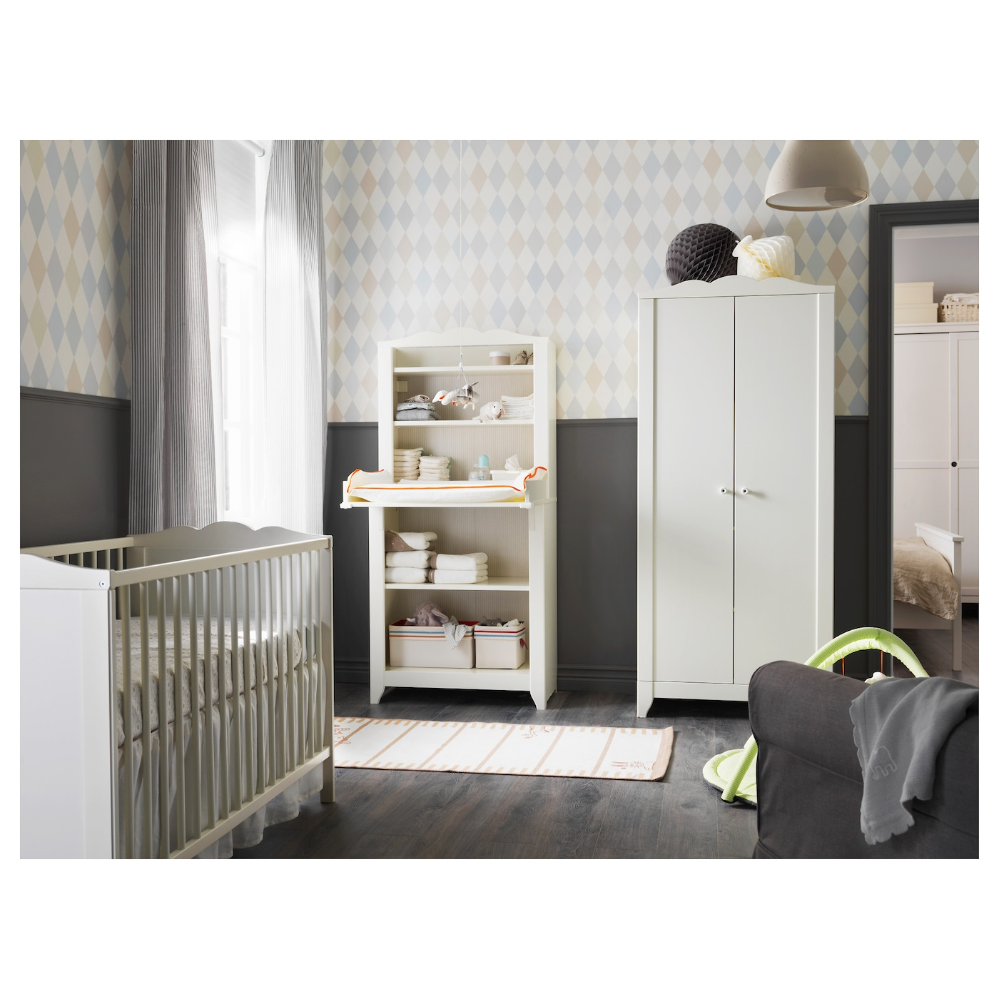 hensvik cot white 60x120 cm ikea. Black Bedroom Furniture Sets. Home Design Ideas