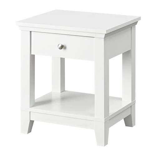 ikea trysil bedside table white. Black Bedroom Furniture Sets. Home Design Ideas