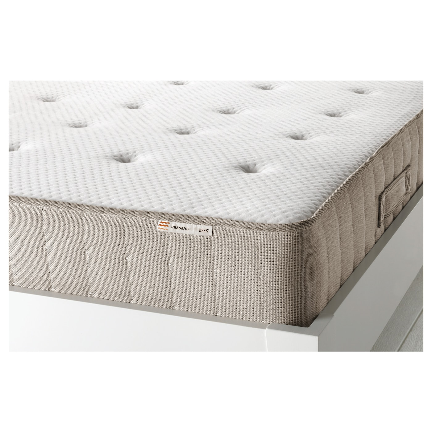 Hesseng pocket sprung mattress medium firm natural colour standard double ikea - Matelas ikea 140x200 ...