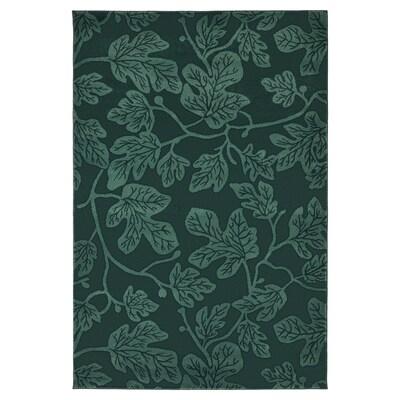 HILDIGARD rug, low pile green 195 cm 133 cm 12 mm 2.59 m² 1880 g/m² 675 g/m² 9 mm