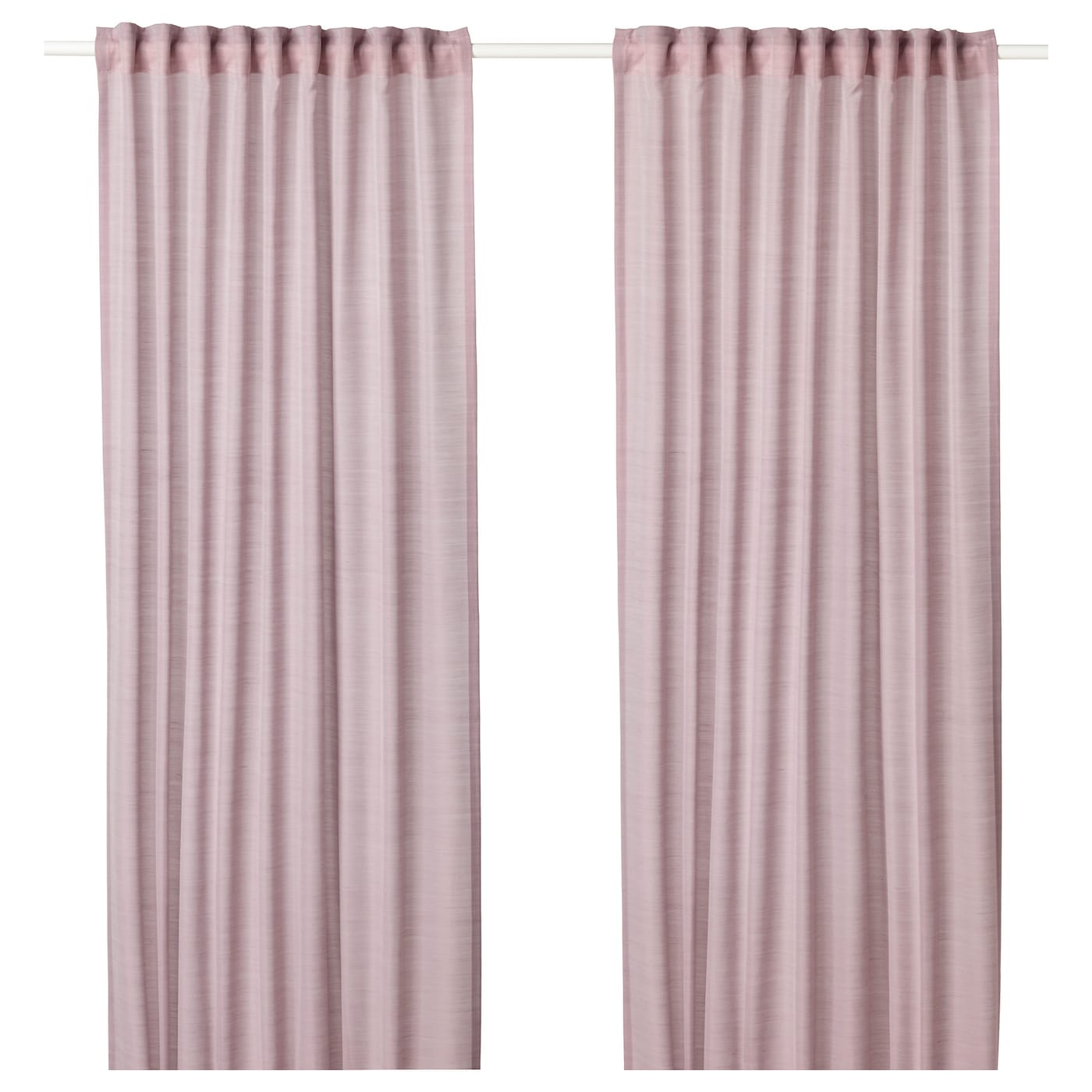 HILJA Curtains 1 pair Pink 145x250 cm IKEA