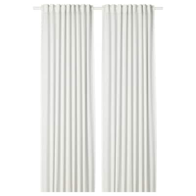 HILJA Curtains, 1 pair, white, 145x250 cm