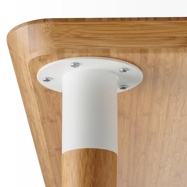 HILVER Leg cone-shaped, bamboo, 70 cm