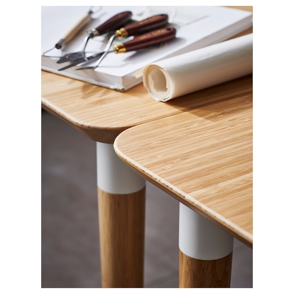 HILVER table bamboo 140 cm 65 cm 73 cm