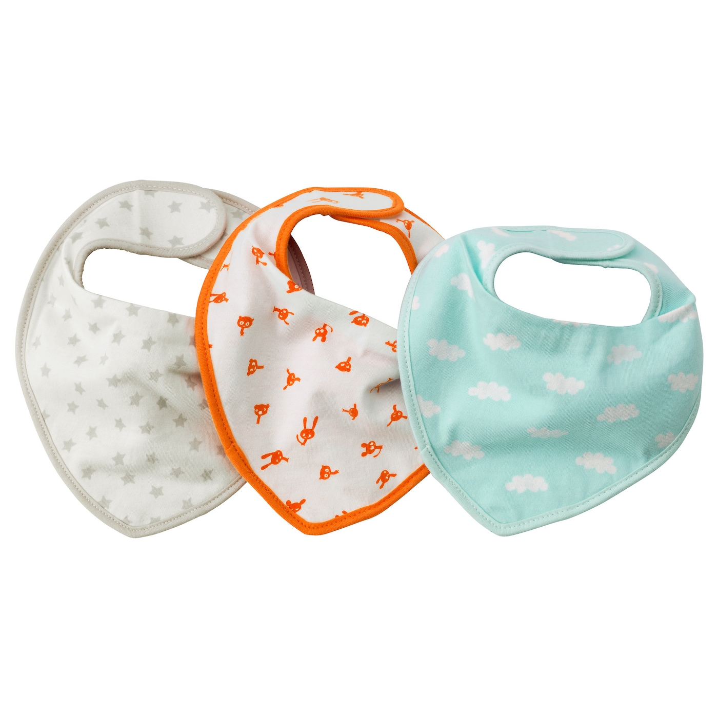 IKEA HIMMELSK dribble bib The touch and close fastening makes it easy to put on and remove.