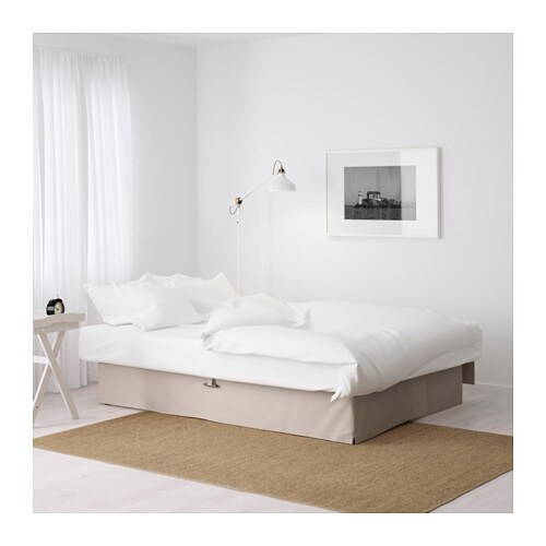Himmene three seat sofa bed lofallet beige ikea for Sofa cama con almacenaje
