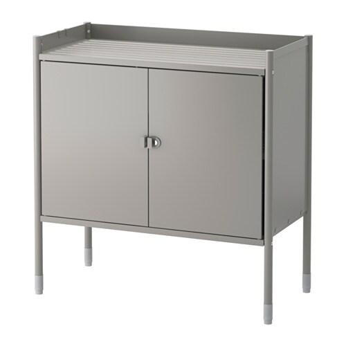 IKEA HINDÖ cabinet in/outdoor Also stands steady on an uneven floor since the feet can be adjusted.