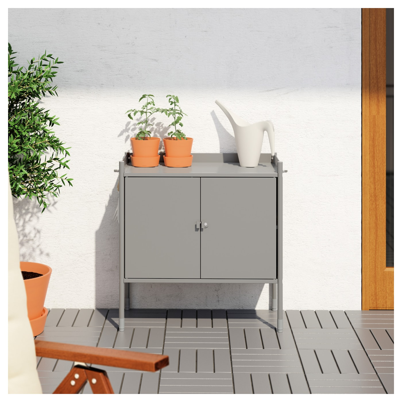 hind cabinet in outdoor grey 78x82 cm ikea. Black Bedroom Furniture Sets. Home Design Ideas