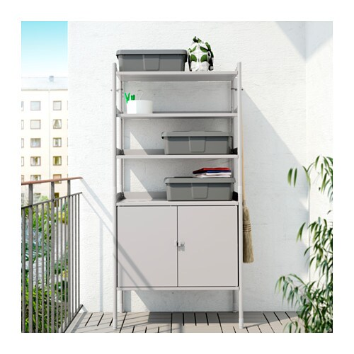ikea outdoor kitchen cabinets hind 214 cabinet w shelving unit in outdoor grey 78x158 cm ikea 17723