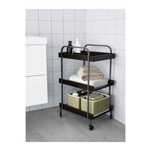 Hj lmaren trolley black brown 48x36 cm ikea - Desserte plancha ikea ...