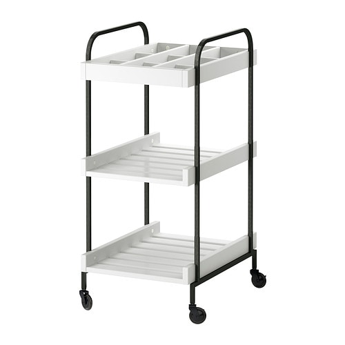 IKEA HJÄLMAREN trolley Easy to move - castors included.