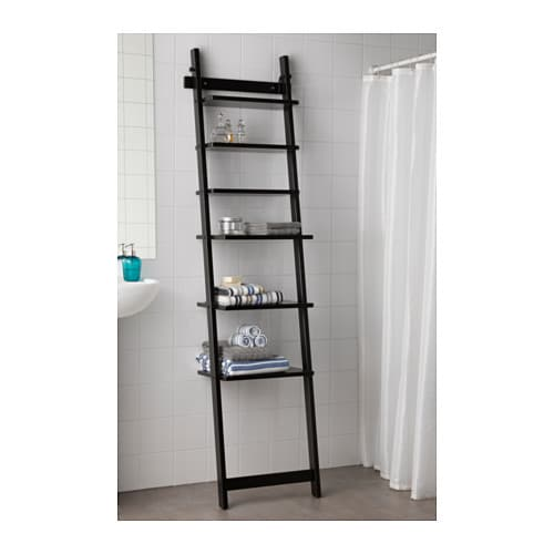HJÄLMAREN Wall shelf Blackbrown 190 cm  IKEA -> Ikea Wandregal Hjälmaren