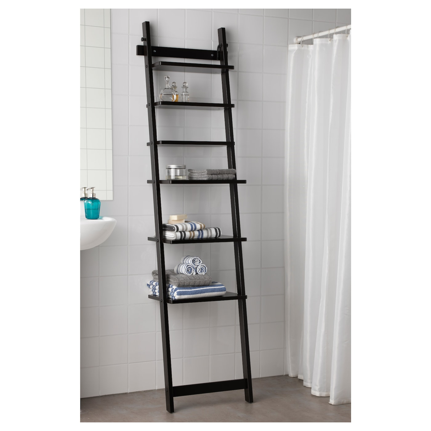 hj lmaren wall shelf black brown 190 cm ikea. Black Bedroom Furniture Sets. Home Design Ideas