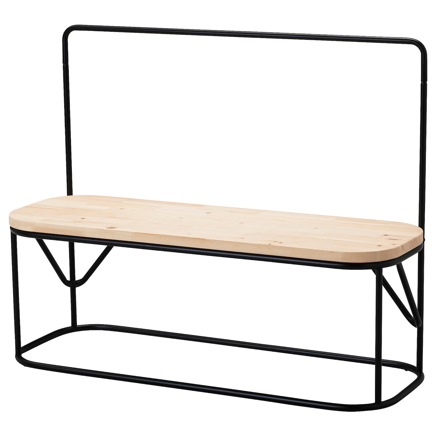 IKEA HJÄRTELIG bench with clothes rack