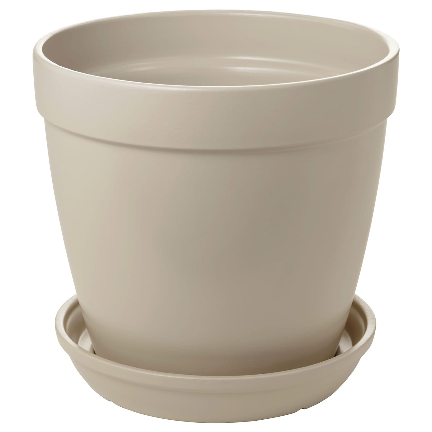 IKEA HJORTRON plant pot with saucer