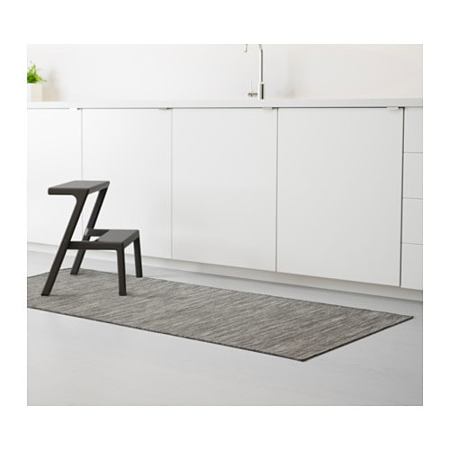 hodde rug flatwoven in outdoor grey black 80x200 cm ikea. Black Bedroom Furniture Sets. Home Design Ideas