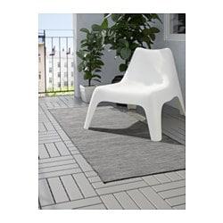 hodde rug flatwoven in outdoor grey black 80x200 cm ikea. Black Bedroom Furniture Sets. Home Design Ideas