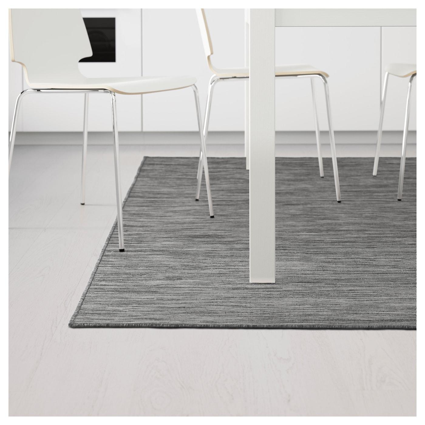 Hodde rug flatwoven in outdoor grey black 160 x 230 cm ikea - Tappeto grigio ikea ...
