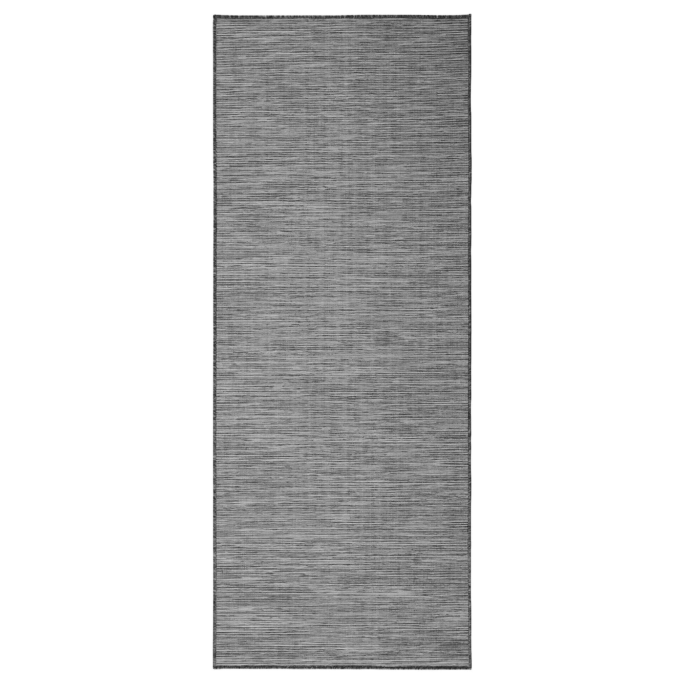 hodde rug flatwoven in outdoor grey black 80 x 200 cm ikea. Black Bedroom Furniture Sets. Home Design Ideas
