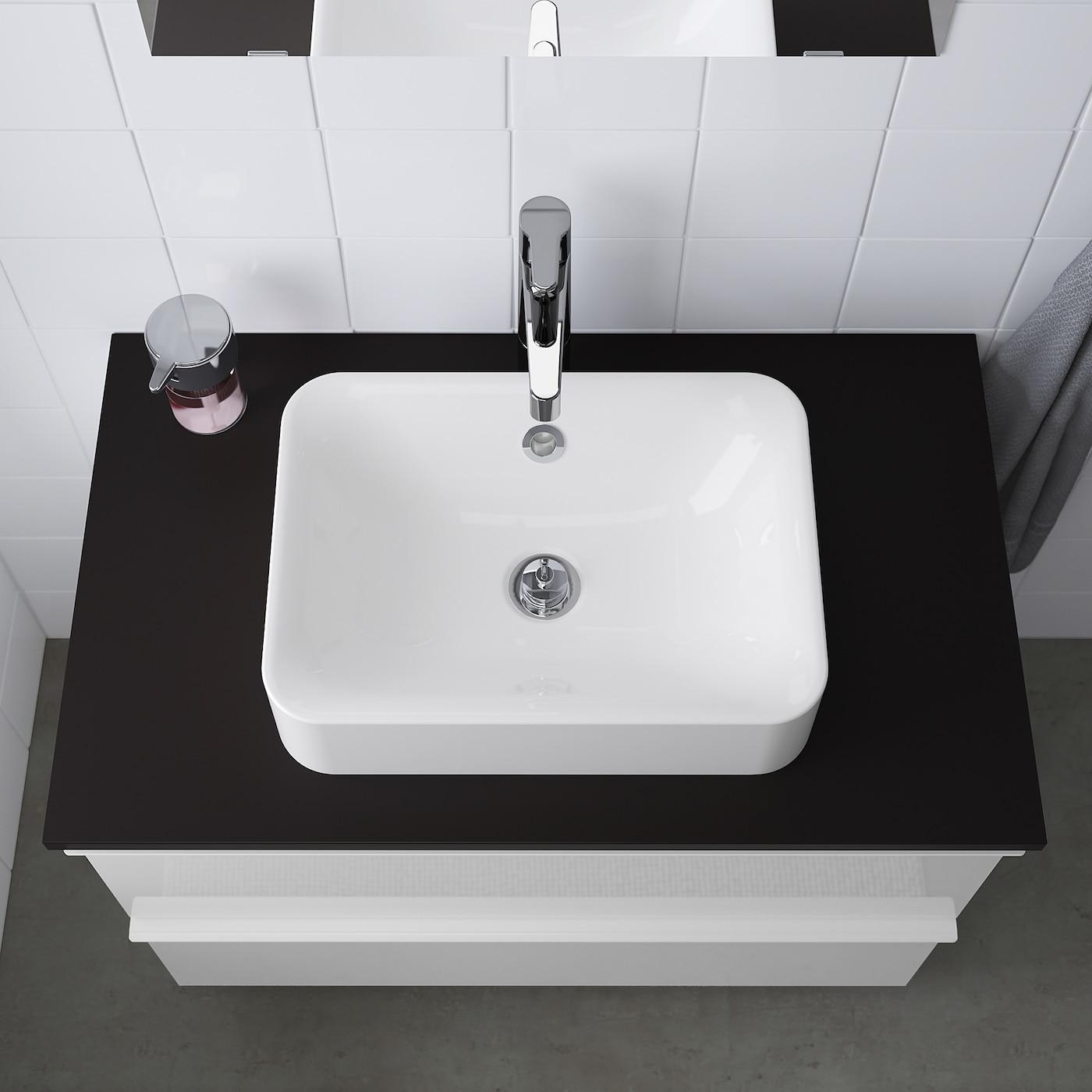 HÖrvik White Countertop Wash Basin