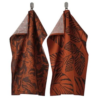 HÖSTKVÄLL Tea towel, black/red, 50x70 cm