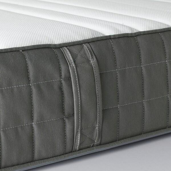 HÖVÅG Pocket sprung mattress, medium firm/dark grey, Standard Double