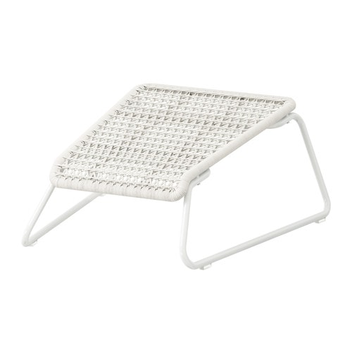 HÖGSTEN Footstool IKEA Hand woven plastic rattan, with the same expressions as natural rattan but durable for outdoor use.
