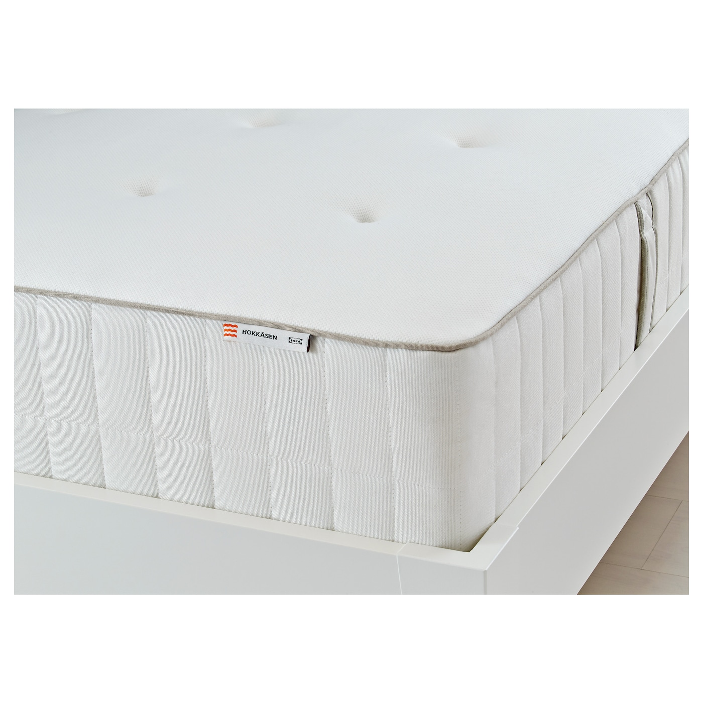 IKEA HOKKÅSEN pocket sprung mattress A generous layer of soft fillings adds support and comfort.