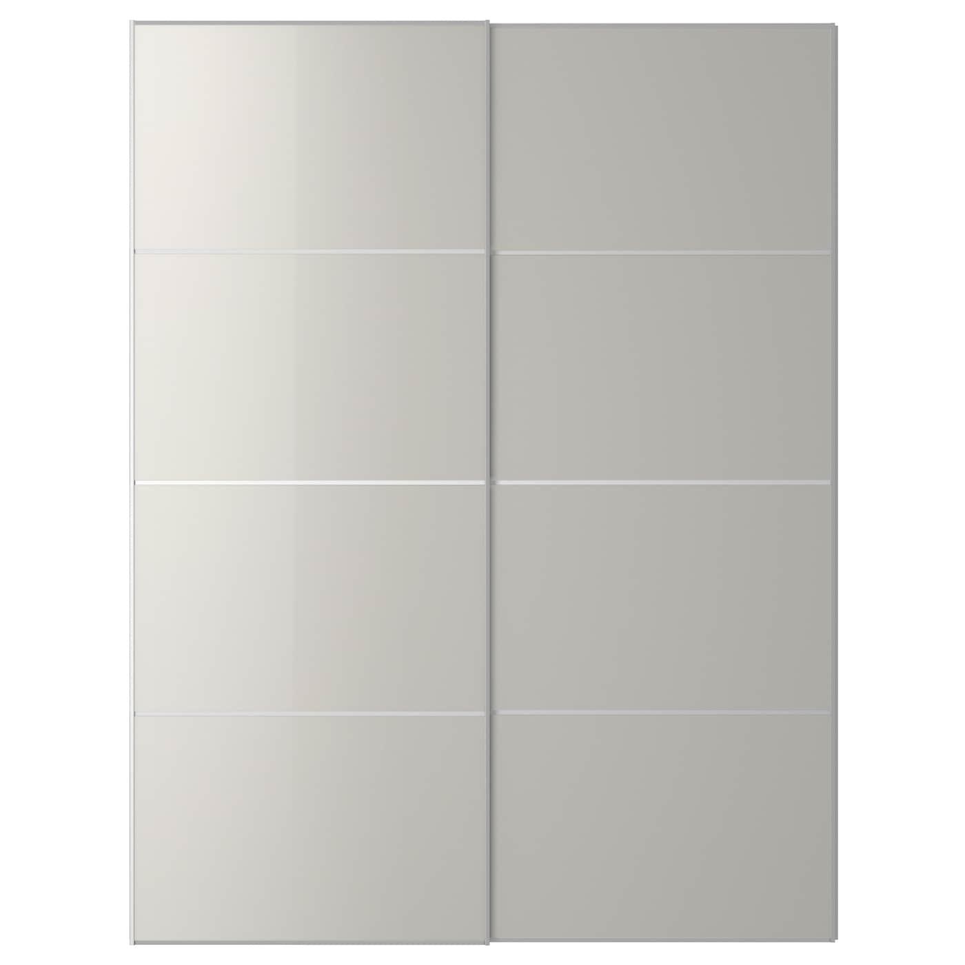 Materials ikea pax tonnes sliding doors white - Ikea Hokksund Pair Of Sliding Doors